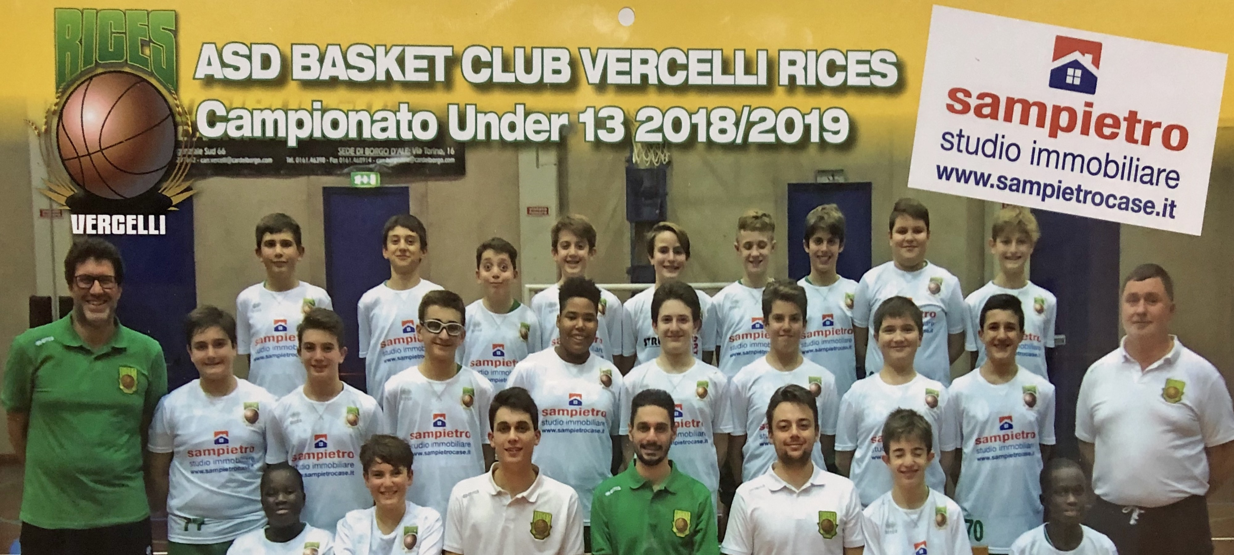 SPONSOR – Basket Vercelli RICES Under 13 Regionale